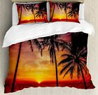 Tropical Decor Queen Size Duvet Cover Set by Ambesonne, S...