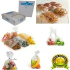 CLEAR POLYTHENE PLASTIC FOOD APPROVED BAGS 250 GAUGE *ALL SIZES / QTYS*