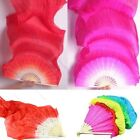 New 18m 5 Colors Hand Made Belly Dance Dancing Silk Bamboo Long Fans Veils RS
