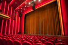 soundproof drapes - THEATER PANEL | COTTON VELVET CURTAIN SOUNDPROOF STAGE THEATRE DRAPE | RUST