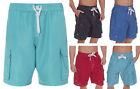 Mens Cargo Swim Shorts Beach Summer Holiday Microfibre Pocket Shorts Plus Sizes
