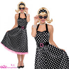 Womens Twist And Shout Costume Polka Dot 1950s 50's Rock N Roll Bop Fancy Dress