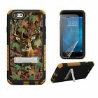 iPhone 6S+ Plus Heavy Duty Tri Shield Rugged Armor Hybrid Kickstand Case CAMO