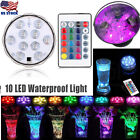 remote operated lights - Remote Controlled RGB Submersible LED Lights Color Changing Battery Operated USA