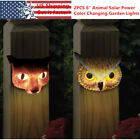 """2pcs 6"""" SMD-LED Out of doors Animal Solar Lawn Night Lights Garden Decor Yard Lamps"""