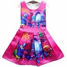 US STOCK  Girls Kids Princess Poppy Trolls Party Holiday Birthday Dress O96 image