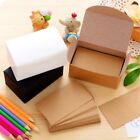 black business card paper - 100pcs Double-sided Blank Kraft Paper Business Cards