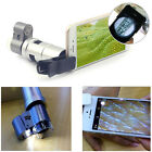 Clip-on 200X Optical Zoom HD Microscope Camera Lens W/ LED Light For SmartPhones