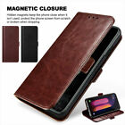 For LG Stylo 3 4 Plus Leather Wallet Protective Case Cover Pouch Tempered Glass