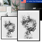 Modern Black&White Girl Canvas Print Painting Wall Art Picture Poster Decoration