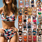 Women High Waist Bikini Set Push-Up Bra Swimwear Swimsuit Bathing Suit Beachwear