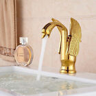 Bathroom Basin Sink Antique Brass Gold Black Chrome Swan Faucet Duck Mixers Tap-