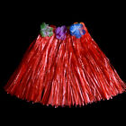 New Kids Adult Hawaiian Hula Grass Skirt Flower Wristband Party Beach Dress*-