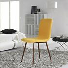 Dining Chairs Cushion Seat Kitchen Dining Room Furniture Decoration Yellow