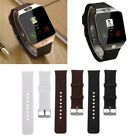 Silicone Wrist Band Strap Metal Buckle Bracelet Replacement For DZ09 Smart Watch image