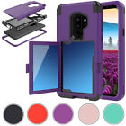 Wallet Card Pocket TPU Bumper with Mirror Phone Case For Samsung Galaxy S9 / S9+