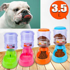 US 3.5L Automatic Pet Feeder Dog Cat Animal Safety Food Device Bowl Dispenser