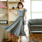 Внешний вид - Big Swing Dress Nursing Breastfeeding Maternity Mid-calf Slim Cute M/L/XL/2XL