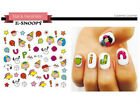 50+ Styles Nail Art Stickers Water Decals Cartoon Unicorn Christmas Halloween
