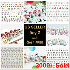 Kyпить 50+ Styles Nail Art Stickers Water Decals Cartoon Unicorn Christmas Halloween на еВаy.соm