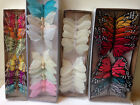 Внешний вид - Wholesale LOT 12 Feather Butterflies Pick Size Crafts Weddings Floral Supplies
