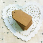 Vintage Blank Brown Kraft Paper Hang Tags Wedding Favor Label Gift Cards 100X JH