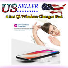 2 in1 Qi Wireless Charger Pad Charge Station Fr Apple Watch2/3 iPhone X 8 Lot US