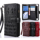 Luxury New Crocodile Snake PU Leather Flip Cover Business Wallet Case For ZTE