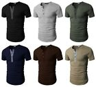 H2H Men's Basic Casual Slim Fit Short Sleeve Henley T-Shirts Tee