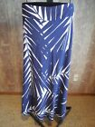 MISSES NAVY WHITE FERN PRINT 100% SILK MAXI LONG SKIRT BANANA REPUBLIC 4