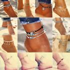 Gold Silver Ankle Bracelet Women Anklet Adjustable Chain Foot Beach Jewelry Gift