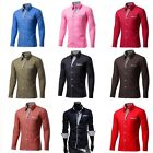 Fashion Mens Casual Shirts Formal Dress T-shirt Long Sleeve Slim Fit Tops 02