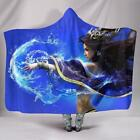 Hooded Blanket BLUE WITCH FANTASY Cast A Spell Adult & Kids Size FREE POST