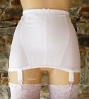 NYLONZ Vintage Style Classic OB 6 Strap Girdle WHITE (6 Suspenders) MADE IN UK