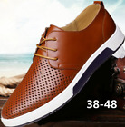 British Men Casual Genuine Leather Shoes Lace-up Sneakers Oxford Lot reathable