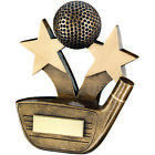 Golf Driver Club 3D golf Ball Stars Trophy Award FREE Engraving Putt,Wedge,Swing