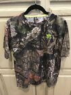Youth Mossy Oak Break-Up Country Short Sleeve Camouflage T-Shirt Green Accent