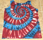 MADE IN USA Patriotic Tie dye womens shirt tank top Small Medium Large XL 2XL