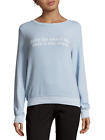 Wildfox women's pullover, sorry for winter, blue, graphic, sweatshirt, sz. m