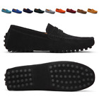 Men Casual Driving Loafers Suede Leather Moccasins Slip On Penny Shoes Plus Size
