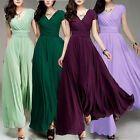 Women V-neck Boho Dress Chiffon Maxi Dress Long Party Bride Bridesmaids 02