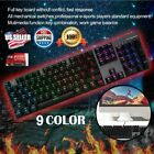 New E-sport Gaming Keyboard Black Switch Light mixing Mechanical For PC lot -BE