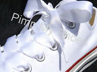 White Pink Red Navy Black Satin Ribbon Shoelaces Laces with Aglets Kids Women's