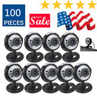 Lot Night Vision USB 2.0 6 LED Web cam Camera With Mic For PC Laptop USA BE