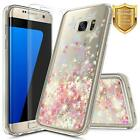 For Samsung Galaxy S7/S7 Edge | Glitter Liquid Clear Case Cover+Screen Protector