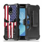 For Galaxy J3 TOP,Express Prime 3,J3 2018 Armor Belt Clip Case Punisher Spartan