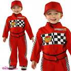 Boys Formula One Racing Driver Costume Grand Prix Car Occupation Fancy Dress