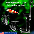 30/40cm Acrylic Aquarium Shrimp Feeding Tube Fish Tank Granule Food Feeder USA