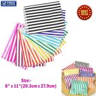 CANDY STRIPE PAPER BAGS SWEET GIFT SHOP PARTY SWEETS CAKE WEDDING SIZE:-8