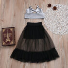 US Baby Girls Toddler Summer T-shirt Striped Tops Dresses Ou